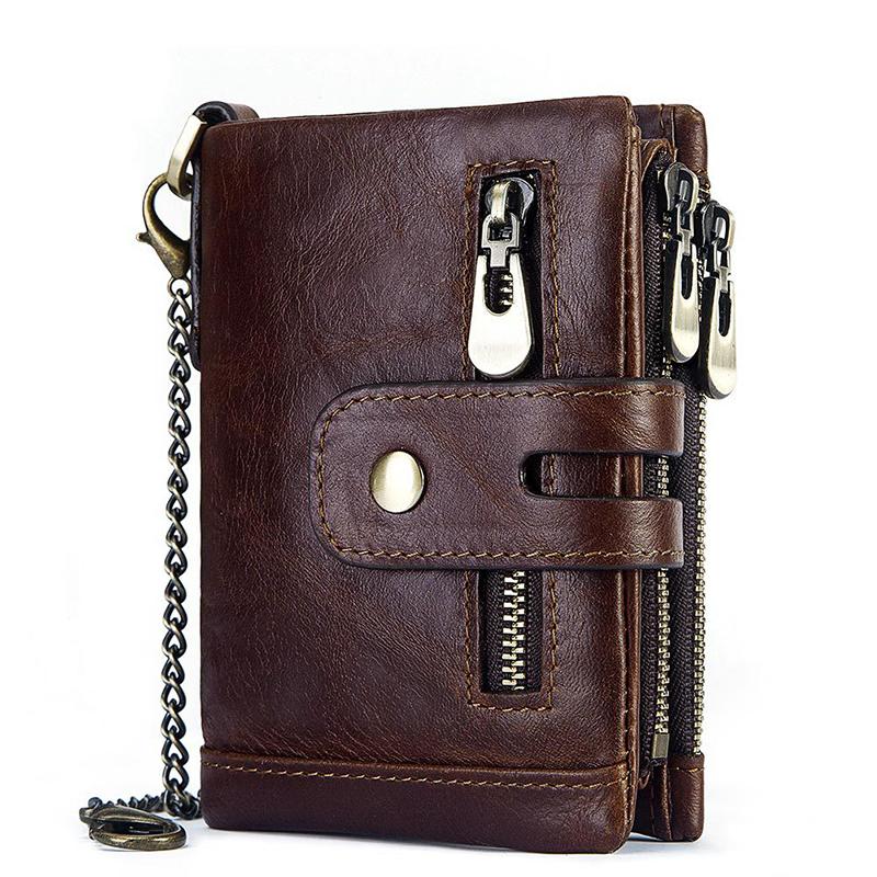 男真皮2019新款潮牌韩版拉链小包折叠短款钱包皮夹银包卡包钥匙包