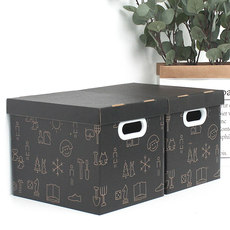 Kraft paper American style wind finishing snack box storage box paper box large storage covered box storage box