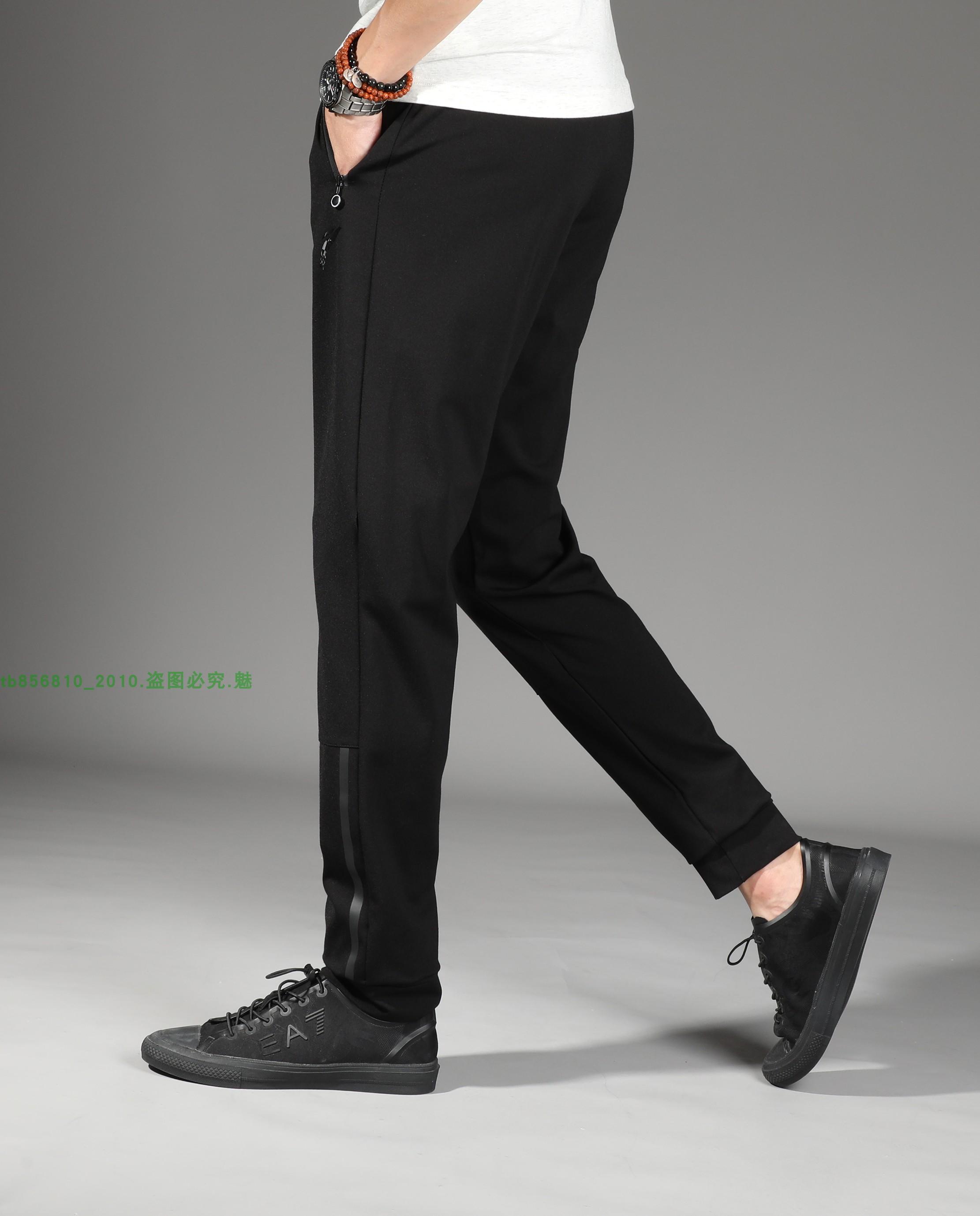 Mùa hè thanh niên dài quần âu nam quần 115 CM Hàn Quốc phiên bản của tự trồng bông phần mỏng đàn hồi thể thao quần chân