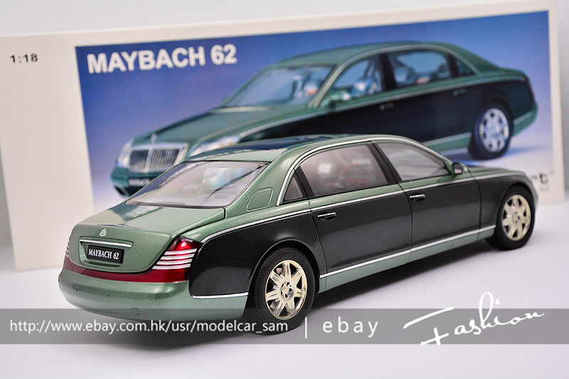 autoart 1:18 maybach 62 green | ebay