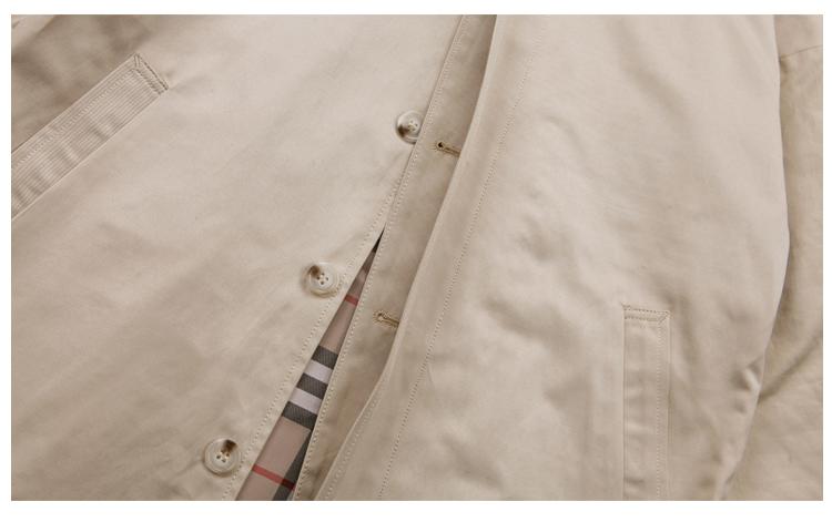 Milan Faner mùa thu mới OVERSIZE siêu dài trench coat men và Châu Âu windproof trùm đầu áo khoác áo triều