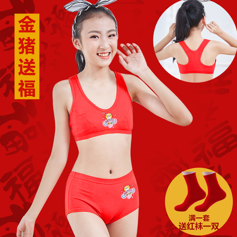 f46e440fa085b Children s birth year cotton red girls underwear panties set 10 big children  12-15 years
