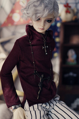 taobao agent 【endless】bjd/sd/dd uncle msd high neck T-shirt wide leg pants suit baby clothes daily clothing