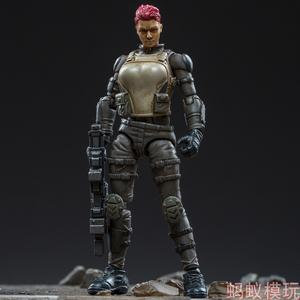 Dark nguồn năm thế hệ áo giáp 2,5 inch người lính nữ mô hình chiến binh đại bàng cát nhóm quân đội Stina để làm đồ chơi di chuyển - Capsule Đồ chơi / Búp bê / BJD / Đồ chơi binh sĩ