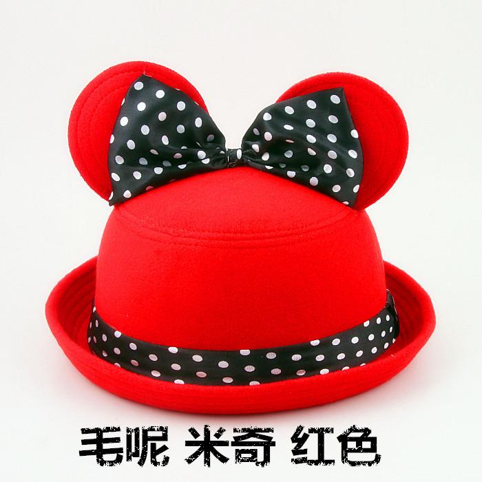Галантерея Зима корейский девочки приливные шляпа шерсти? Купол проката край небольшой Шелковый шляпа мех кролика британский круглой крышкой шарики крышки