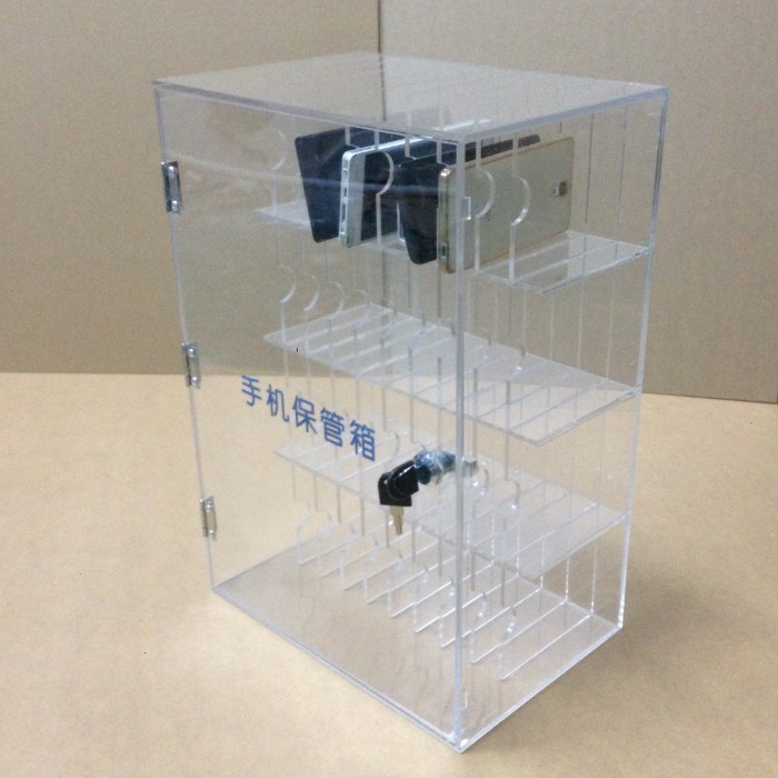 online store a3d6b eaeaa Spot mobile safe deposit box Acrylic mobile storage box transparent mobile  phone cabinet Storage box acrylic storage cabinet