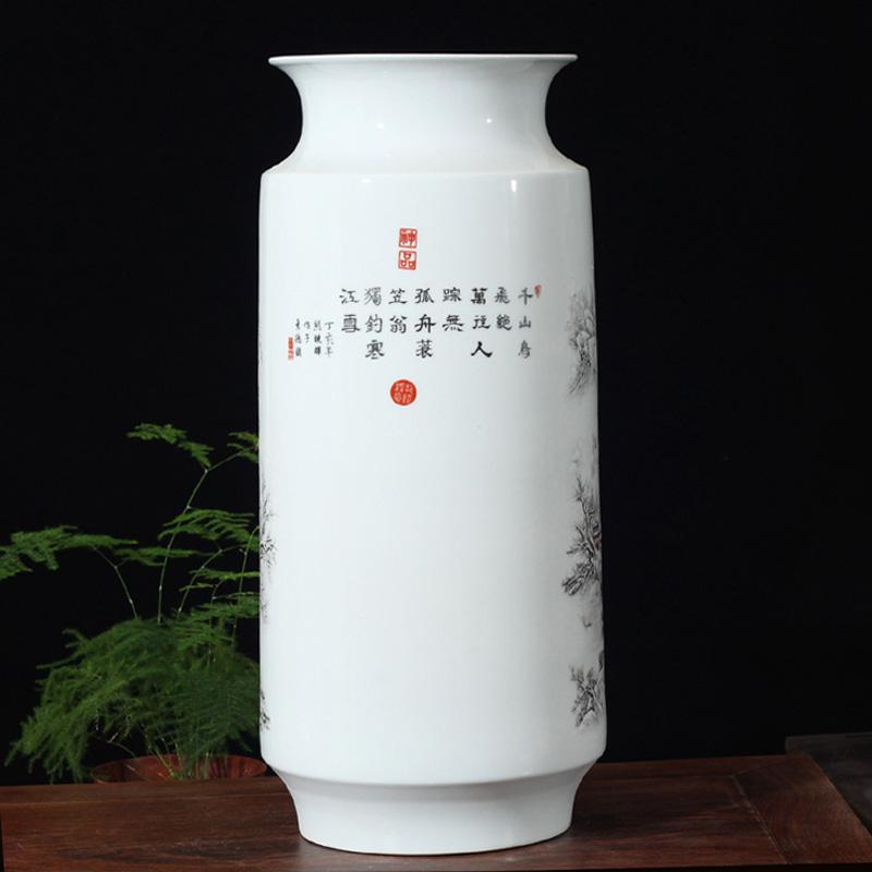 Jingdezhen ceramics snow ceramic porcelain vase studies display TV ark, furnishing articles snow mountains and waters