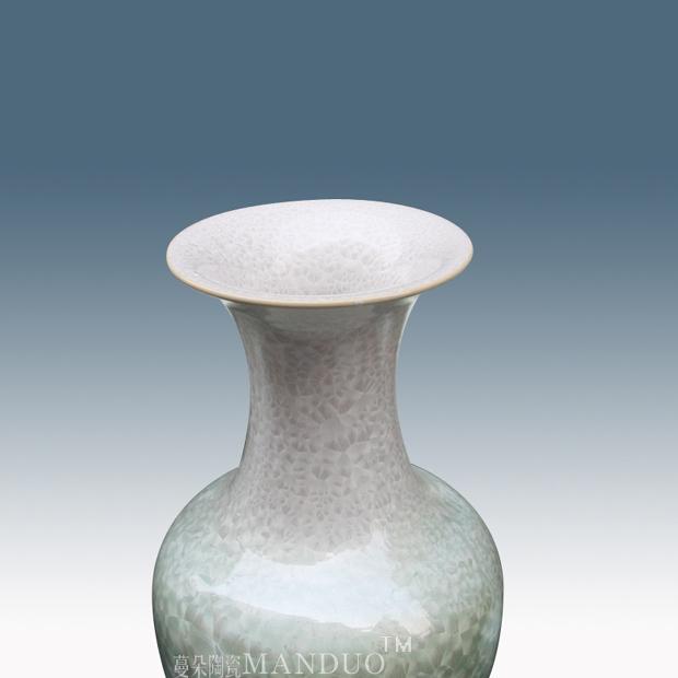 景德镇单色结晶釉落地大花瓶 新居客厅落地大花瓶 高雅典雅花瓶