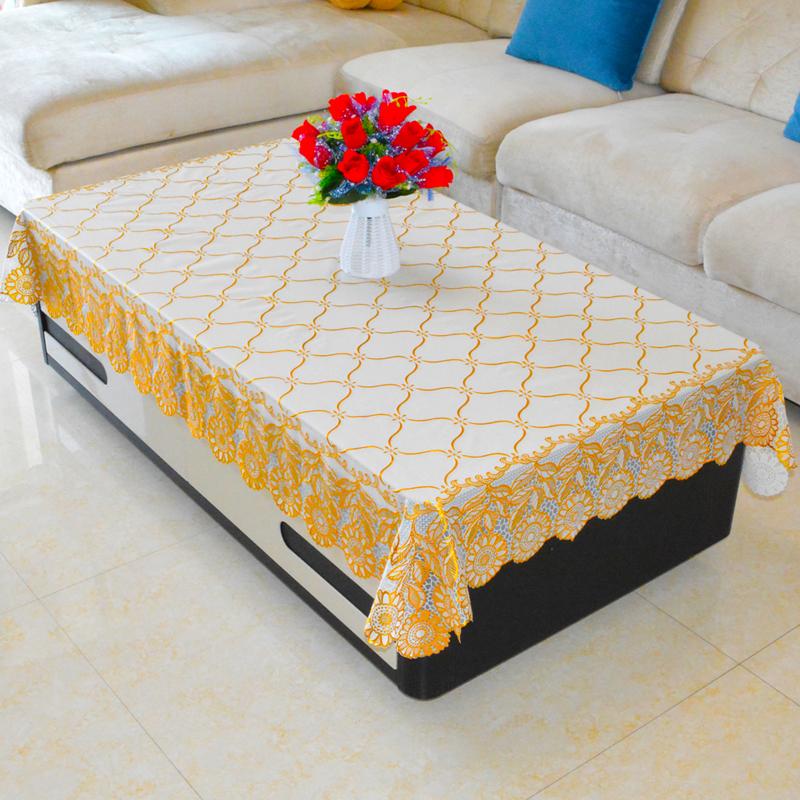 田园欧式长方形茶几桌布防水防烫防油免洗餐桌垫PVC台布塑料布艺-给呗网