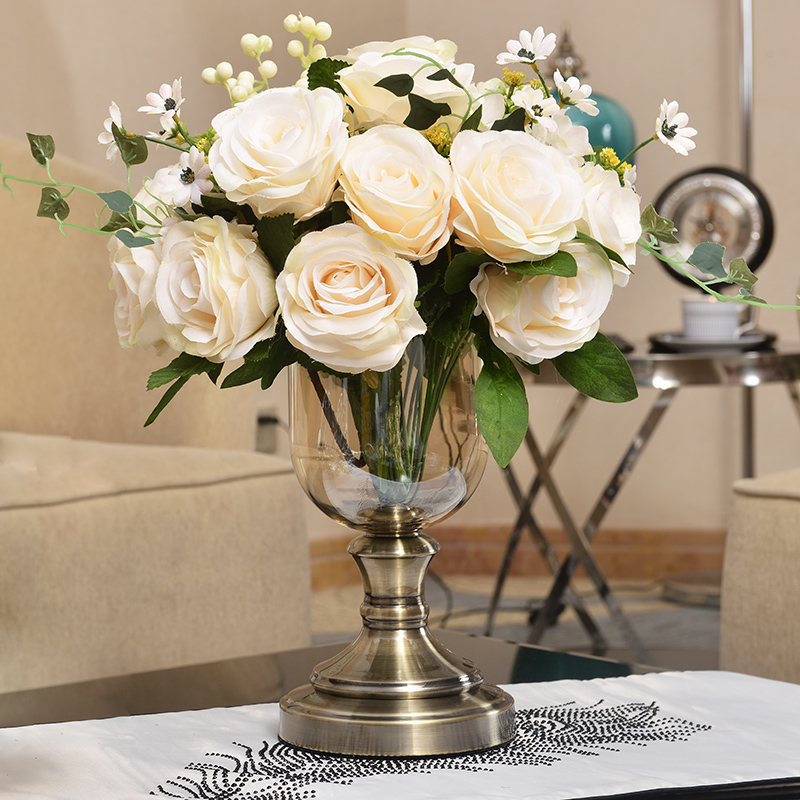 European New Classical Creative Living Room Flower Vase Decoration Model  Home Decoration Craft Vase Table Decoration Part 54