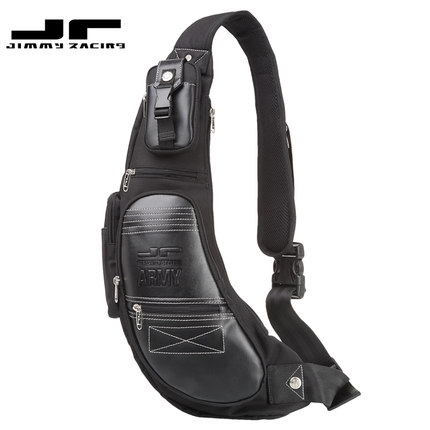 Men's Pouch Bag / Sling Bag JR D395D-BK For Casual Sports And Recreation