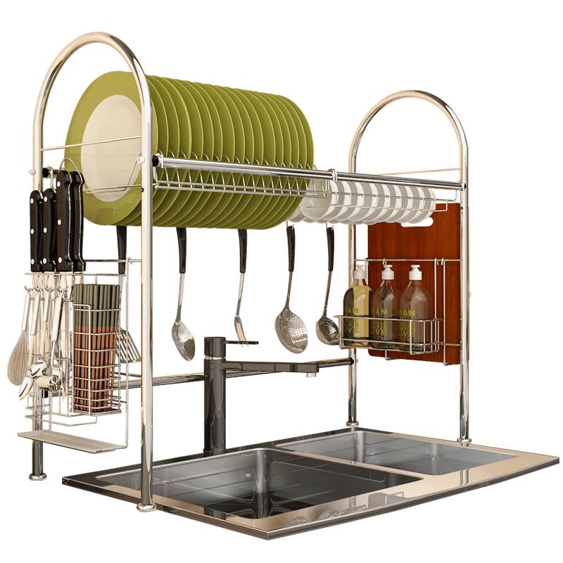 水槽沥水架厨房置物架碗碟筷收纳架