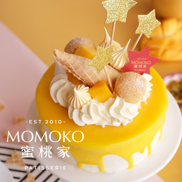 Usd 47 43 Momoko Peach Home Golden Star Mango Cream Cake Birthday