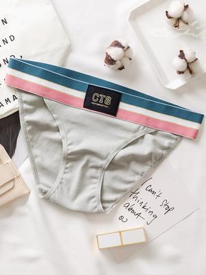 三送一纯棉性感女士内裤隐形透明无痕低腰三角裤头薄全棉少女底裤