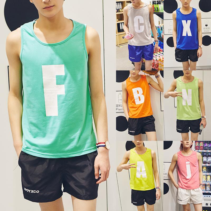 夏季v领半袖男士短袖T��韩版潮流衣服男修身半截袖青少年学生t恤