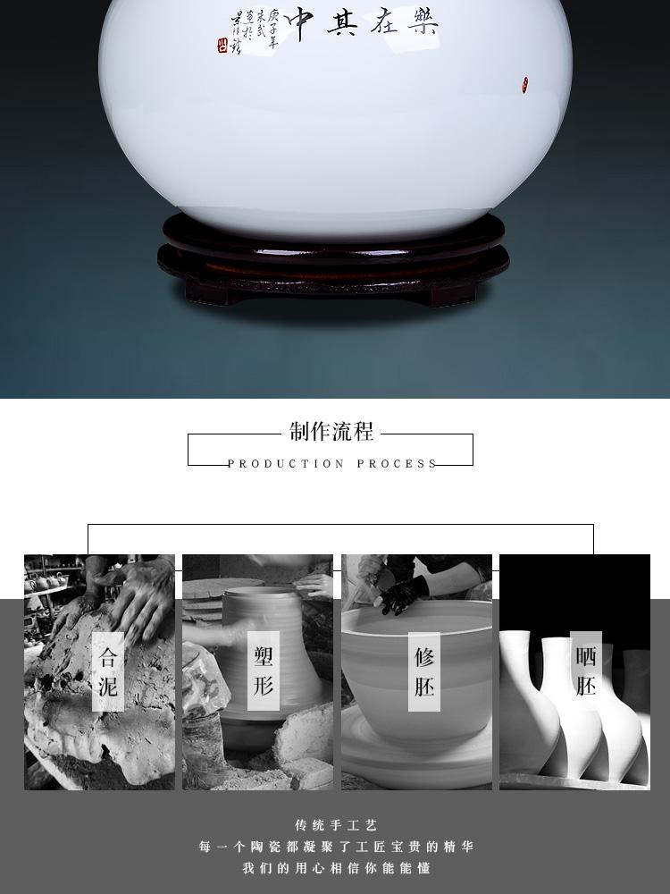 Jingdezhen ceramics five sub - ka cornucopia of Chinese style porch ark home sitting room adornment handicraft furnishing articles
