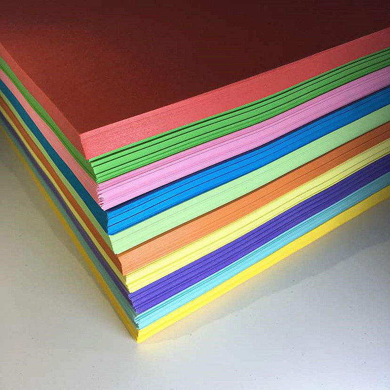 USD 6.47] Hand colored paper A4 copy paper color printing paper 80G ...