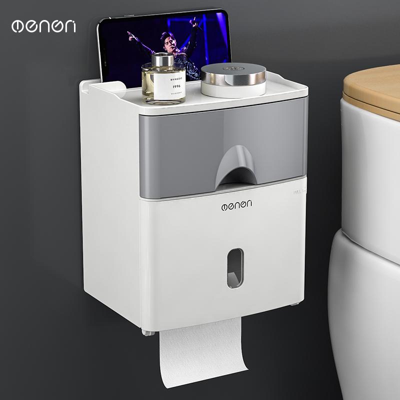 免打孔创意防水纸巾架厕纸盒卫生间纸巾盒厕所卫生纸置物架抽纸盒