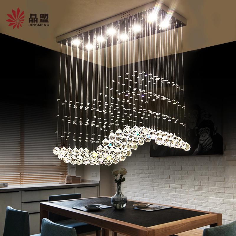 Магазин кристалл кран свет творческий личность современный простой обеденный стол рис зал прямоугольник бар полоса люстра еда люстра
