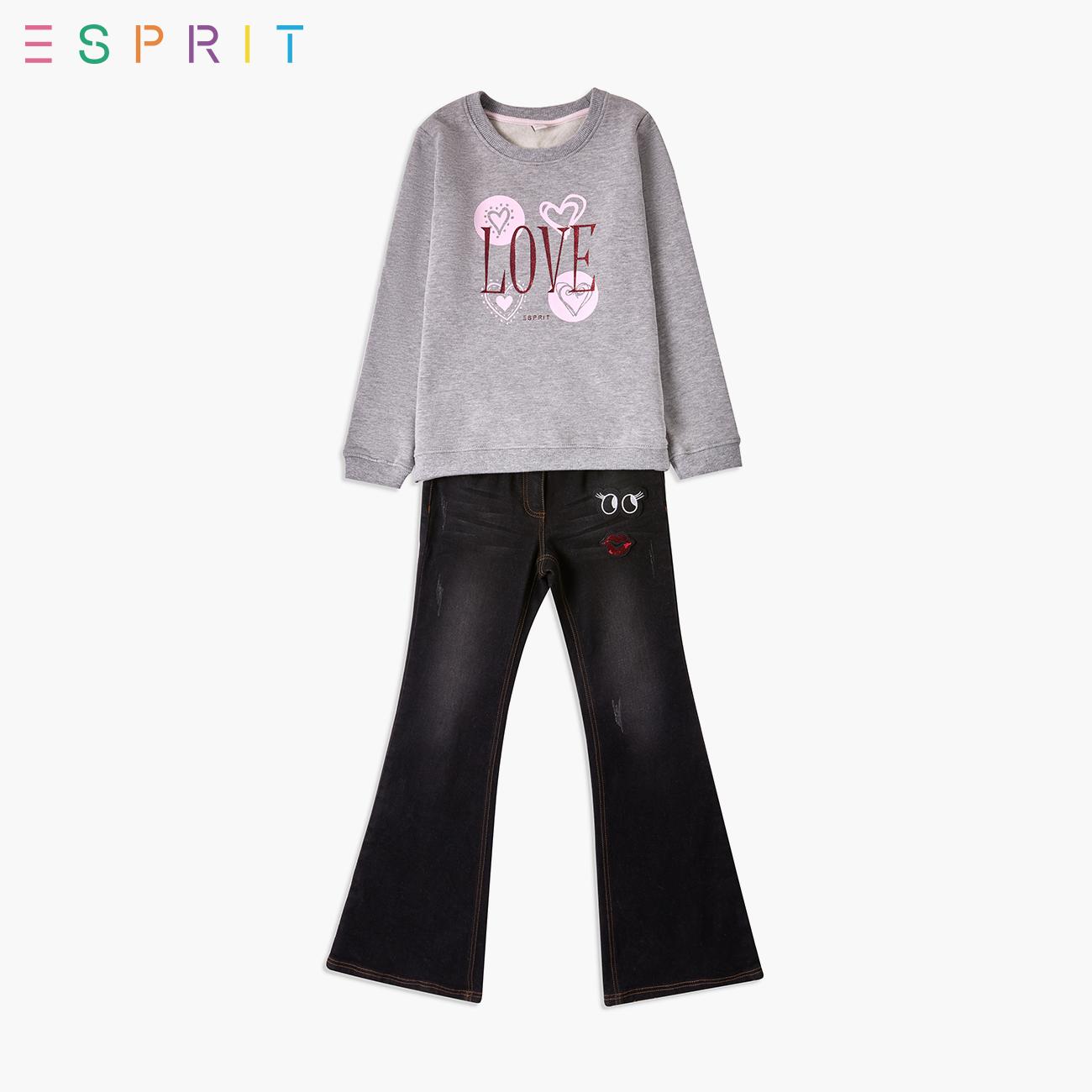 ESPRIT/ ангстрем этот плимут специальный футболки рукав глава досуг модельа девочки длинный рукав движение рубашка -XK2L0349