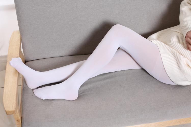 37cb4a3d6 White stockings Japanese adult student girl spring and autumn goose down  micro pressure leggings female soft