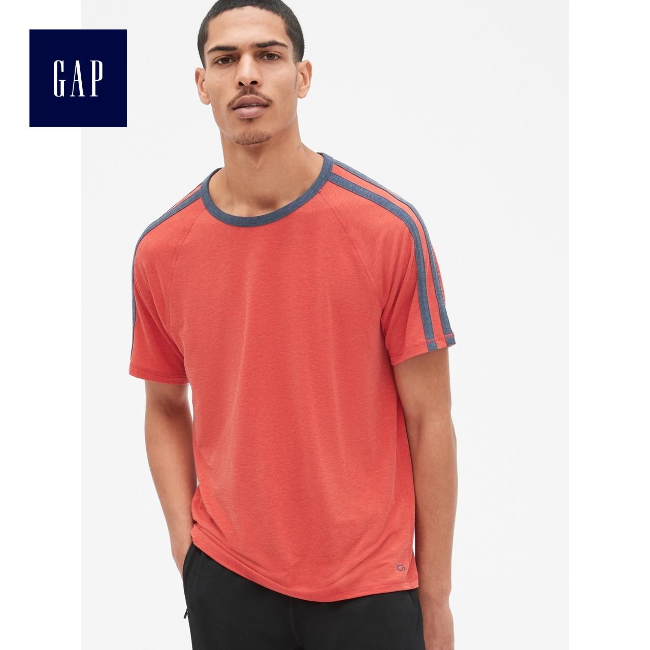 Áo thun thể thao nam GapFit sê-ri 420676 áo ngắn tay thoáng khí chạm đáy áo sơ mi nam - Áo phông thể thao