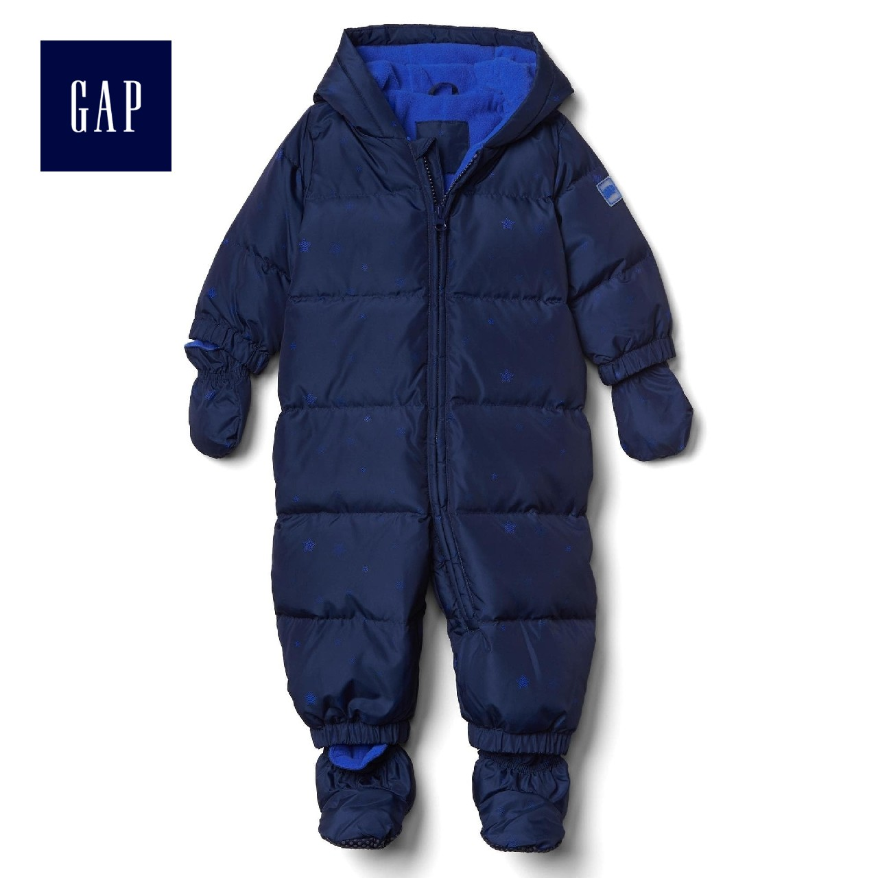 fe850cf57 Gap baby Logo Logo starry Siamese down jacket hooded hooded ...