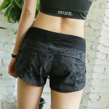 Women's sports shorts camouflage color slimming fitness running training breathable quick-drying hot pants bottoms