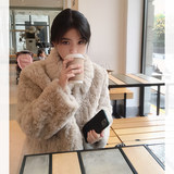 famous Winter 2020 new fashion cut flowers warm and furry rabbit fur short coat women