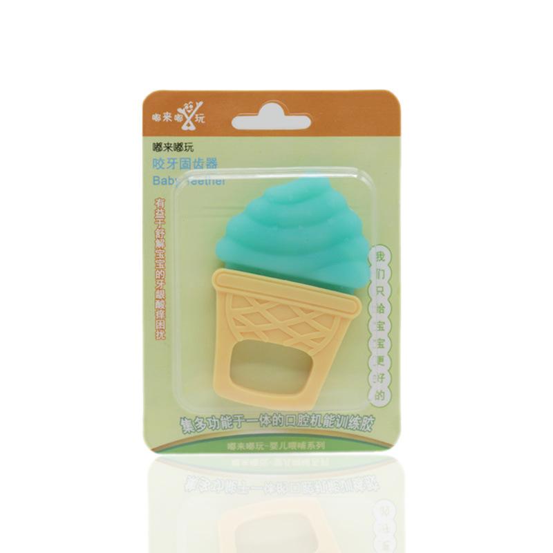 Baby Teether Baby Ice Cream Molar Stick Đồ chơi cho trẻ sơ sinh - Gutta-percha / Toothbrsuh / Kem đánh răng