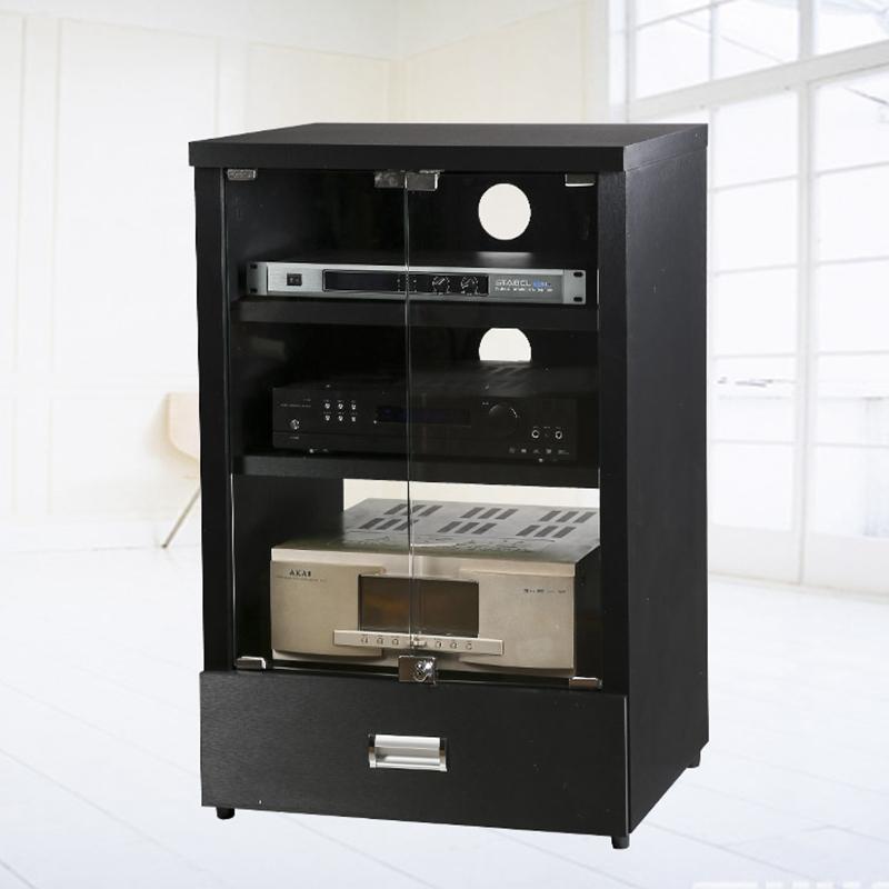Amplifier Cabinet Hardwood With Glass Door Amp Rack Professional Audio  Theater KTV Equipment Cabinets