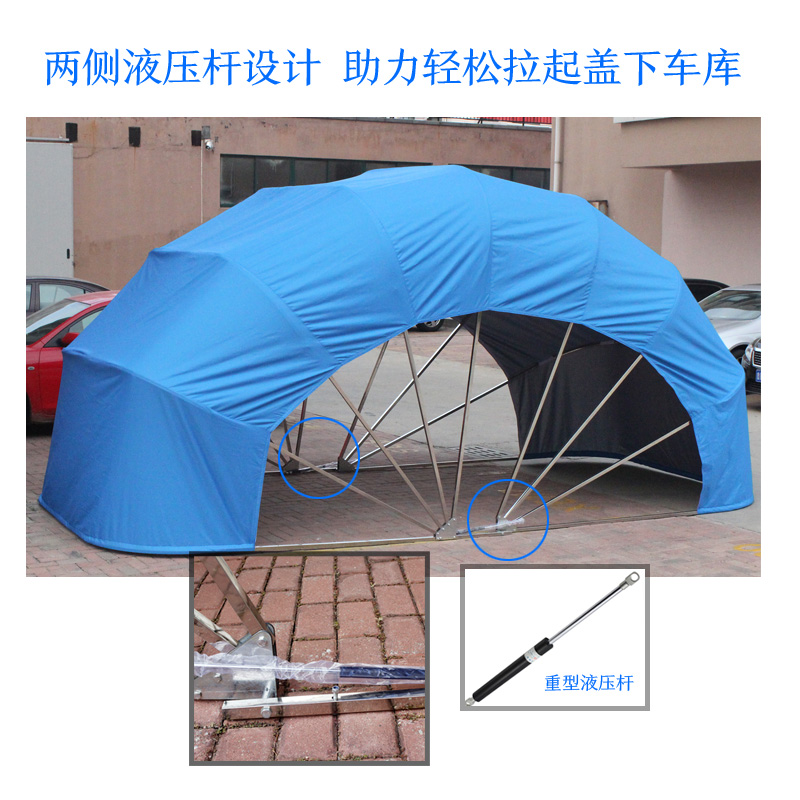 USD 55.71 Semi-automatic home shed mobile folding garage ...