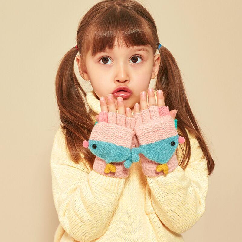 儿童手套冬季女童男童秋冬天小童0宝宝1婴儿2幼儿保暖五指可爱3岁