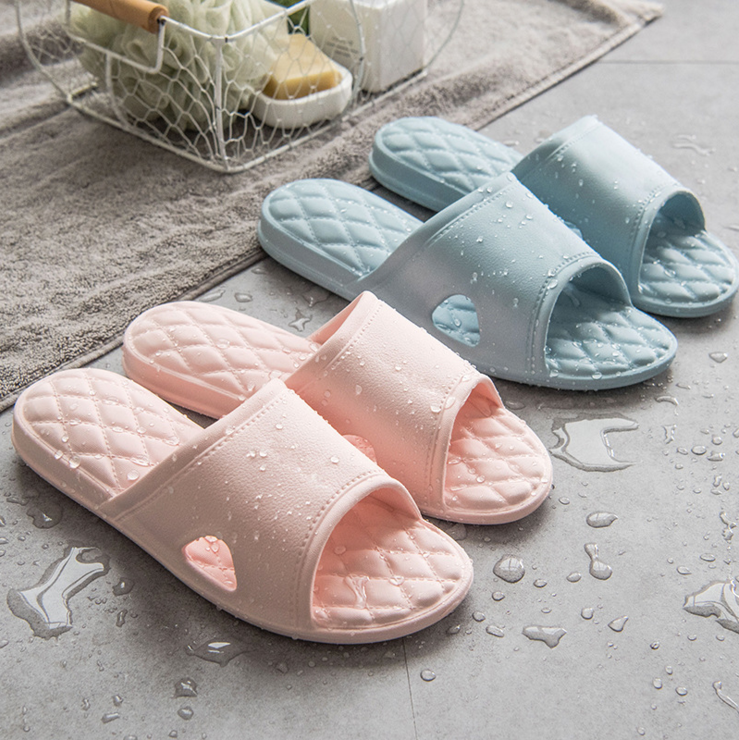 083e1f92367e47 Tasteless Japanese-style couple home indoor cool slippers female non-slip  thick bottom bathroom