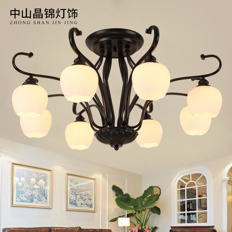 Usd 5571 american minimalist ceiling light led nordic living room american minimalist ceiling light led nordic living room chandelier crystal modern creative master bedroom light dining mozeypictures Images