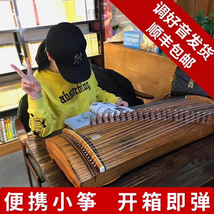 21弦迷你小古筝便携式半筝80cm 纯桐木 初学入门儿童成人练习筝