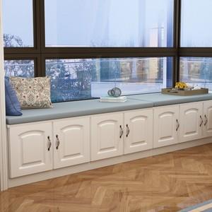 飘窗柜阳台柜 储物柜收纳柜落地柜矮柜可坐可定制现代简约榻榻米
