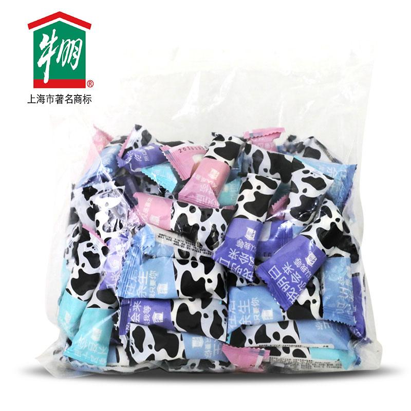 台湾原味棚牛奶牛朋上海特产食品花生糖牛奶棚牛轧糖1000g包邮