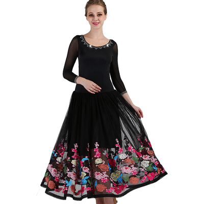 Ballroom Dance Dresses Artistic Examination Dresses for Adult Modern Dance Performance Competition Dresses for Social Dance