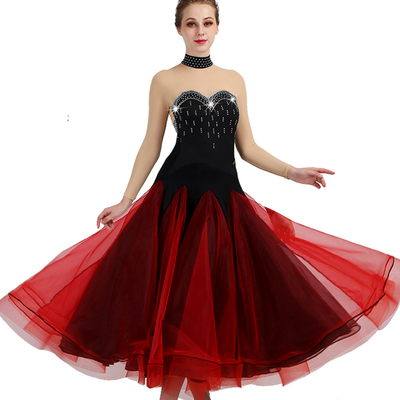 Ballroom Dance Dresses Modern Dance Costume skin color screen sleeve National Standard Dance Dress social dance skirt