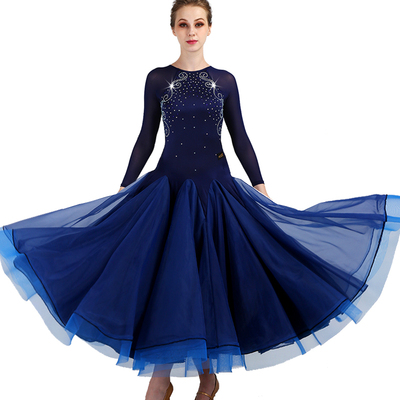 Ballroom Dance Dresses Waltz Show Dresses High-class Sleeve Modern Dance Dresses National Standard Dance Dresses
