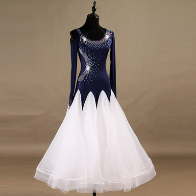 Ballroom Dance Dresses High-class diamond-inlaid modern costume group ballroom dress Waltz dress