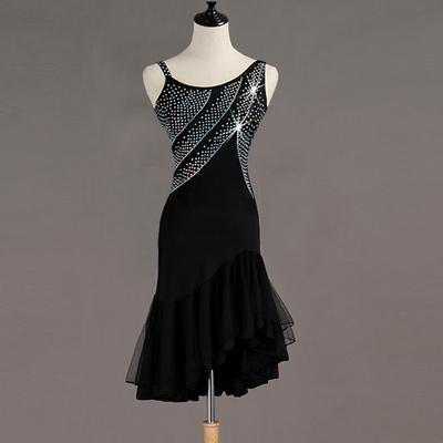 Latin Dance Dresses Modern Dance Skirt Waltz Ballroom Waltz Group Dance Skirt