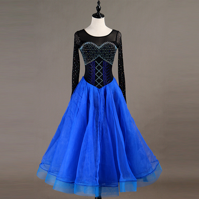 Ballroom Dance Dresses Multicolor Selection of Advanced Diamond Mosaic Dresses