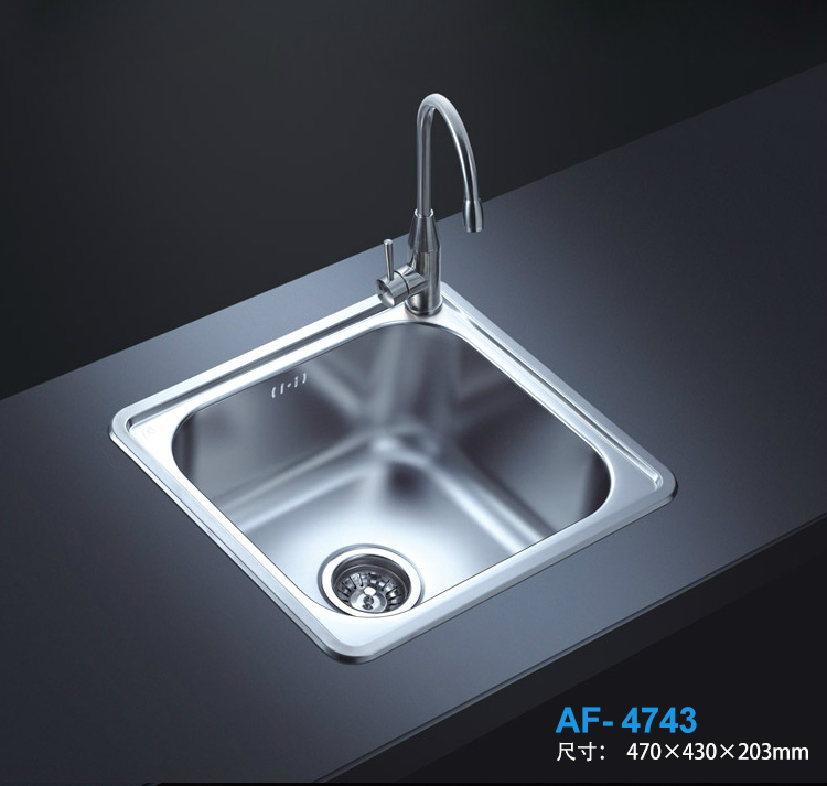USD 106.98] AFA high-grade 304 stainless steel kitchen sink Small ...