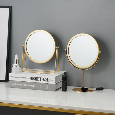 INS NT NET red stamped makeup mirror dormitory female desktop portable large student mirror household dressing mirror