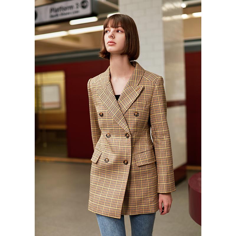 AEL tùy chỉnh ban đầu blogger khuyến nghị giảm béo eo eo là cao và đôi phù hợp với áo khoác mùa xuân - Áo khoác ngắn