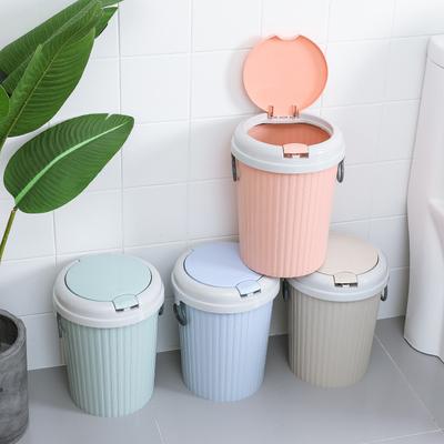 家用大号有盖垃圾桶客厅卧室厕所卫生间厨房可爱欧式带盖北欧弹盖