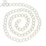 Серебряные аксессуары XD Silver сторона Цепочка тела ручная работа Цепь DIY серебряная цепочка Различные технические характеристики 1 метр цена