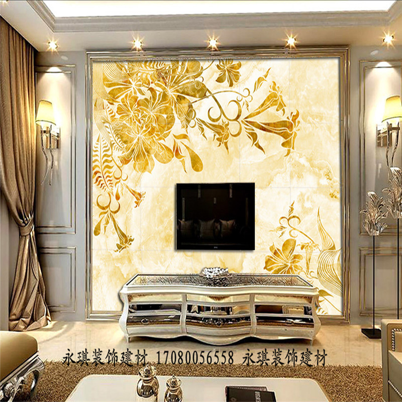 UV board custom TV background wall PVC imitation marble uv panel ...